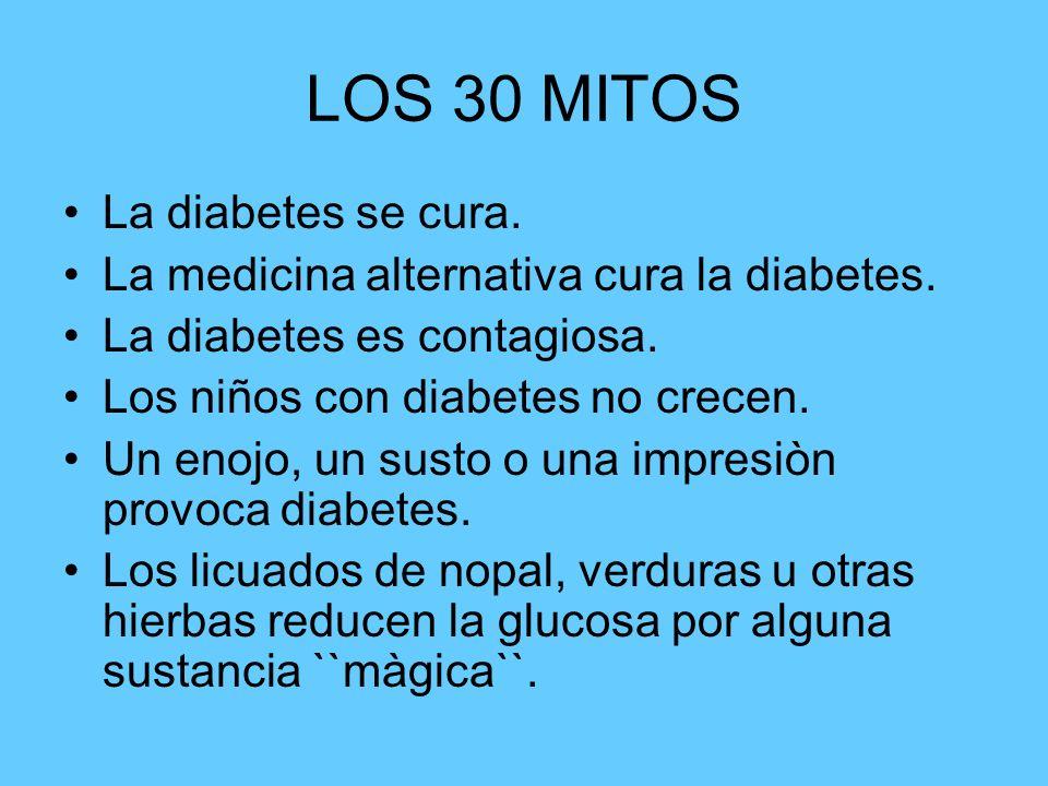 LOS 30 MITOS La diabetes se cura.