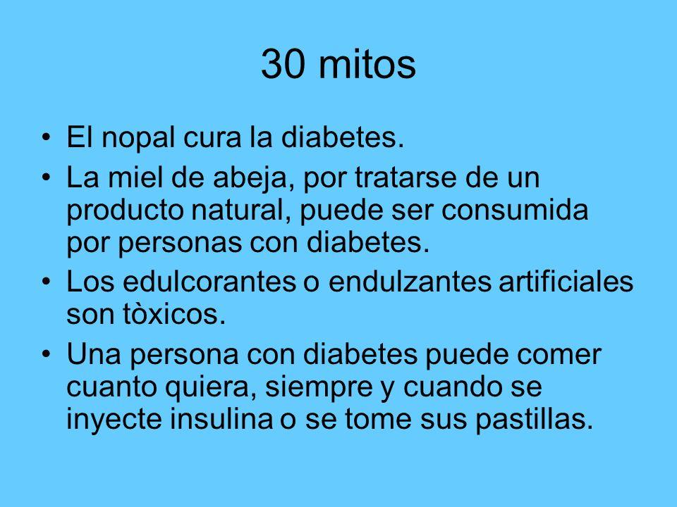 30 mitos El nopal cura la diabetes.