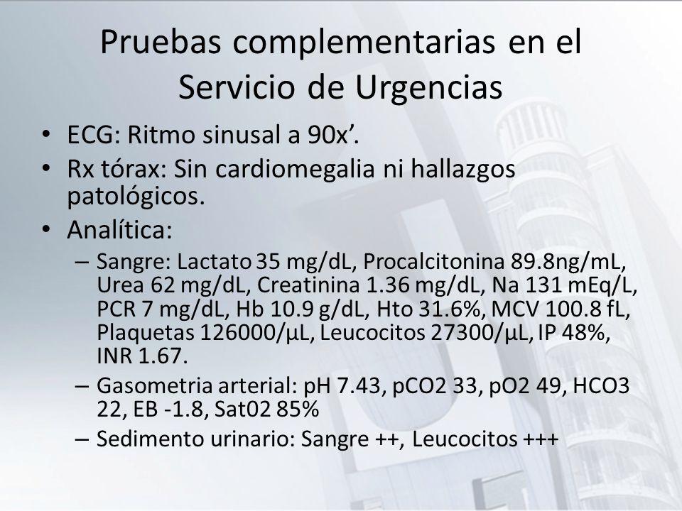 Pruebas complementarias en el Servicio de Urgencias