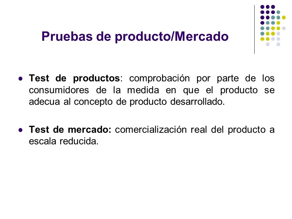 Pruebas de producto/Mercado