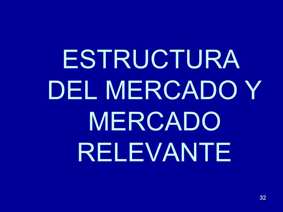 ESTRUCTURA DEL MERCADO Y MERCADO RELEVANTE