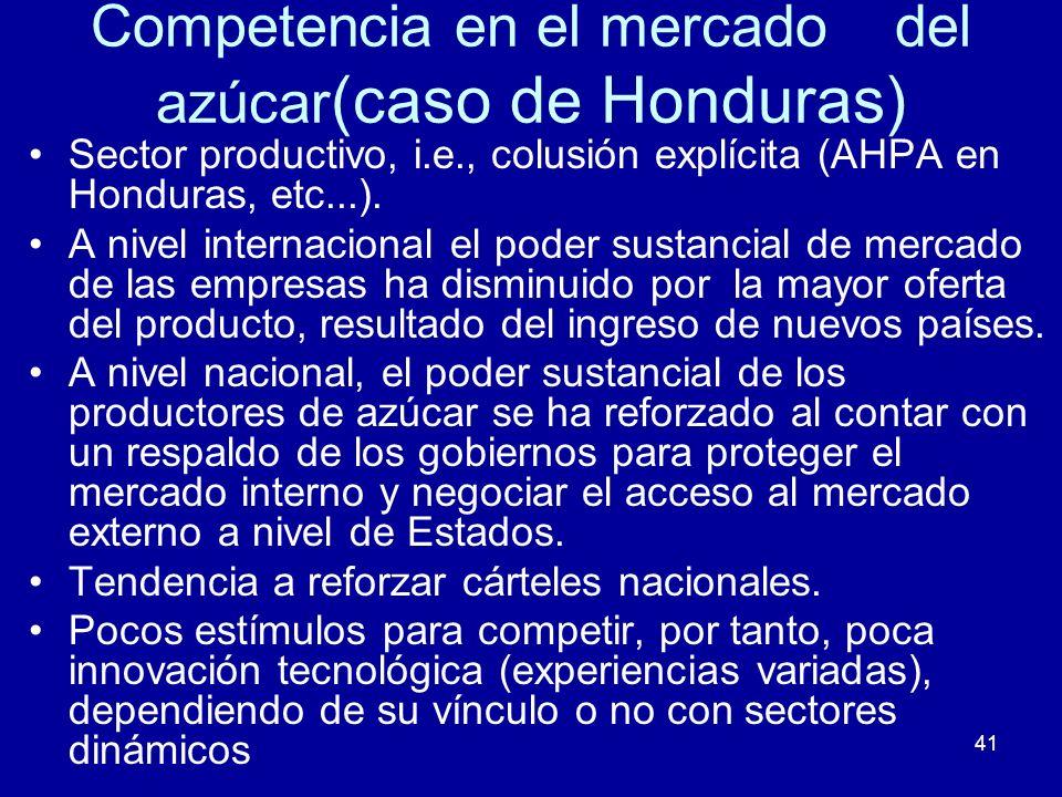 Competencia en el mercado del azúcar(caso de Honduras)