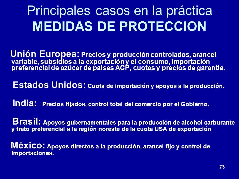 Principales casos en la práctica MEDIDAS DE PROTECCION