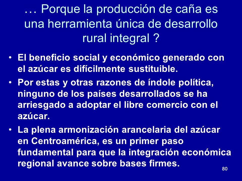 … Porque la producción de caña es una herramienta única de desarrollo rural integral