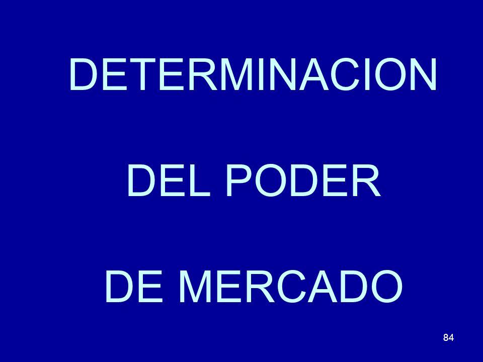 DETERMINACION DEL PODER DE MERCADO