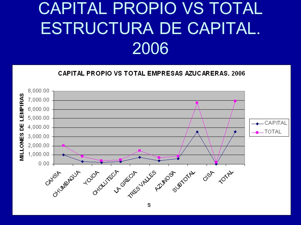 CAPITAL PROPIO VS TOTAL ESTRUCTURA DE CAPITAL. 2006