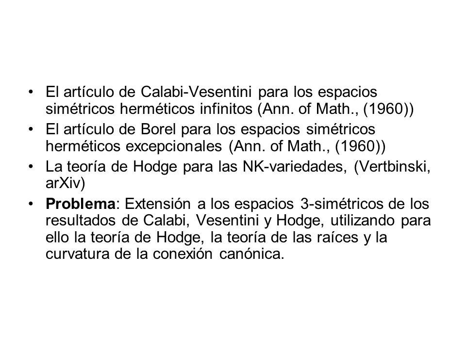 El artículo de Calabi-Vesentini para los espacios simétricos herméticos infinitos (Ann. of Math., (1960))
