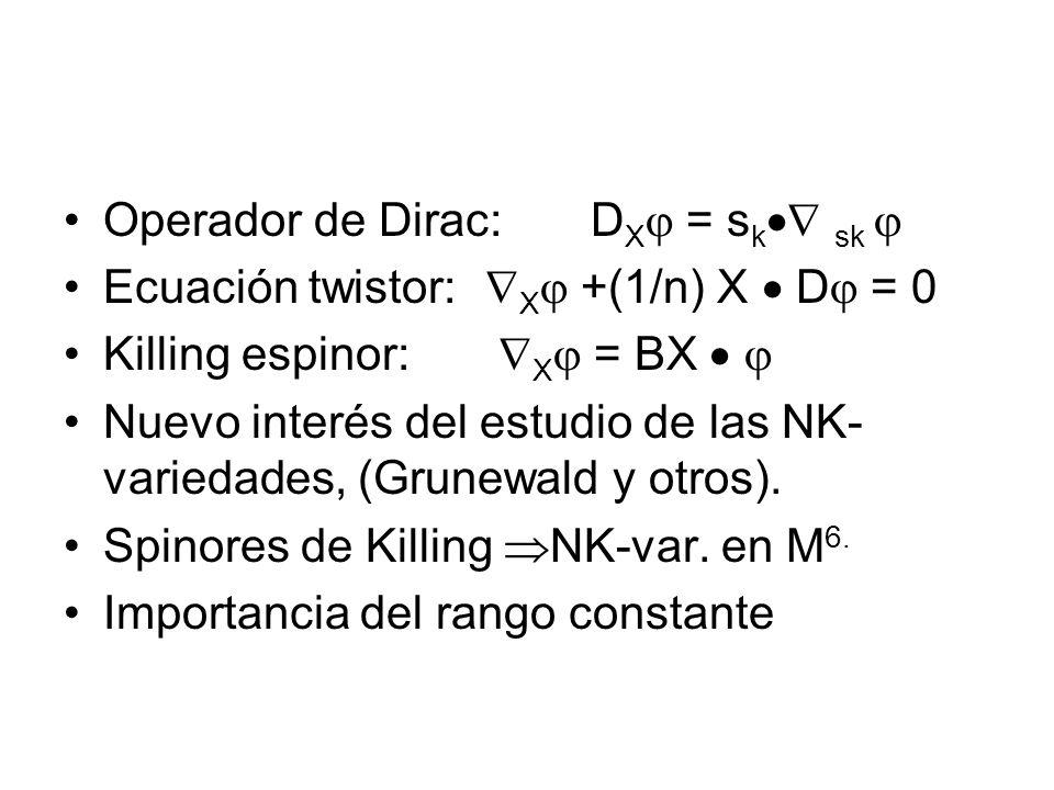 Operador de Dirac: DX = sk sk 