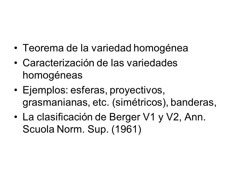 Teorema de la variedad homogénea