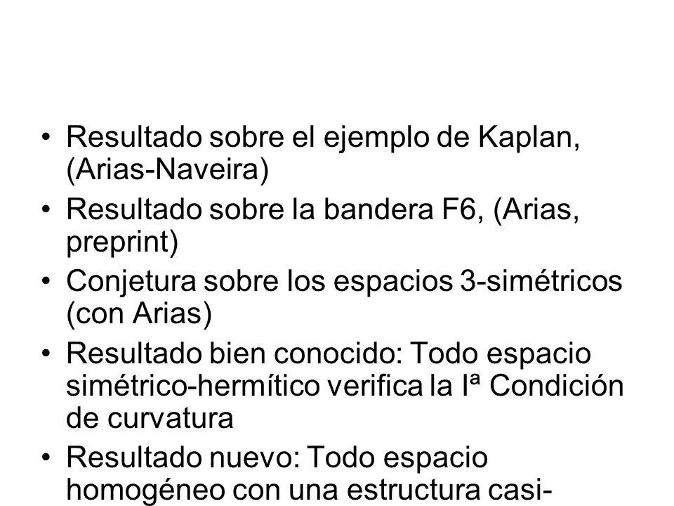 Resultado sobre el ejemplo de Kaplan, (Arias-Naveira)