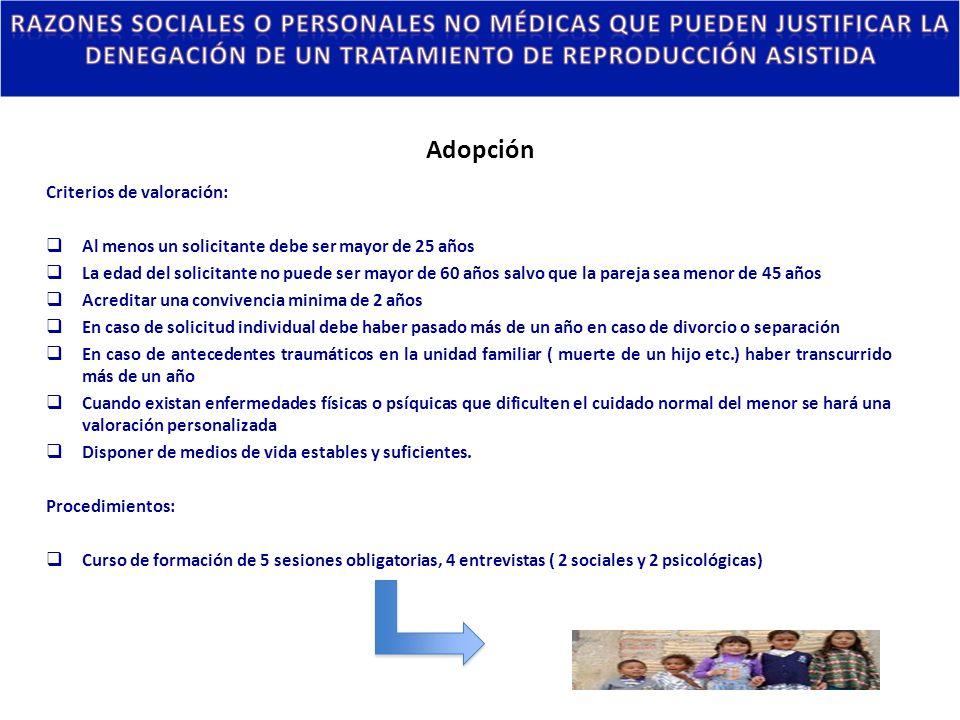 Adopción Criterios de valoración: