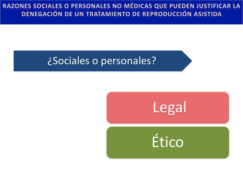 ¿Sociales o personales
