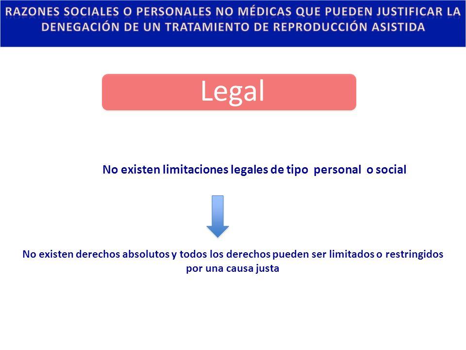 No existen limitaciones legales de tipo personal o social