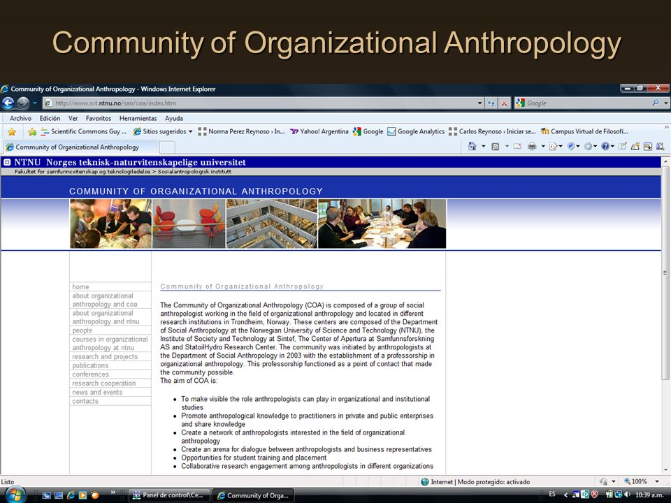 Community of Organizational Anthropology