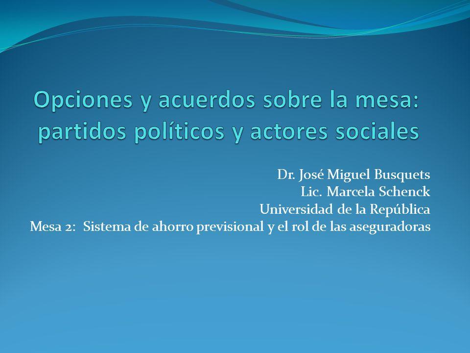 Opciones y acuerdos sobre la mesa: partidos políticos y actores sociales