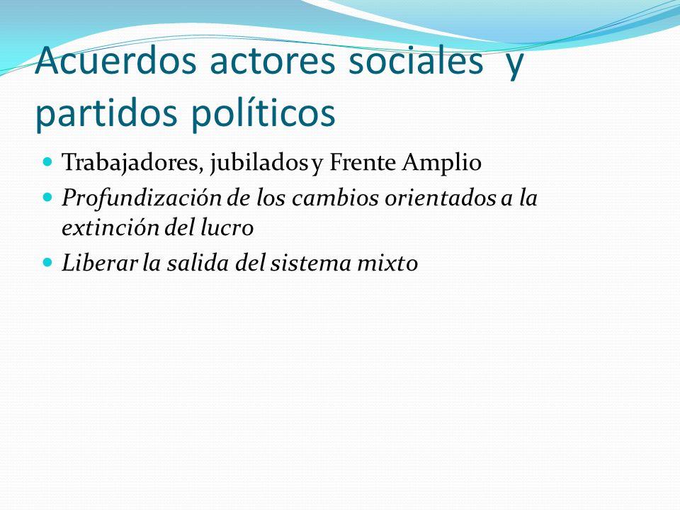 Acuerdos actores sociales y partidos políticos