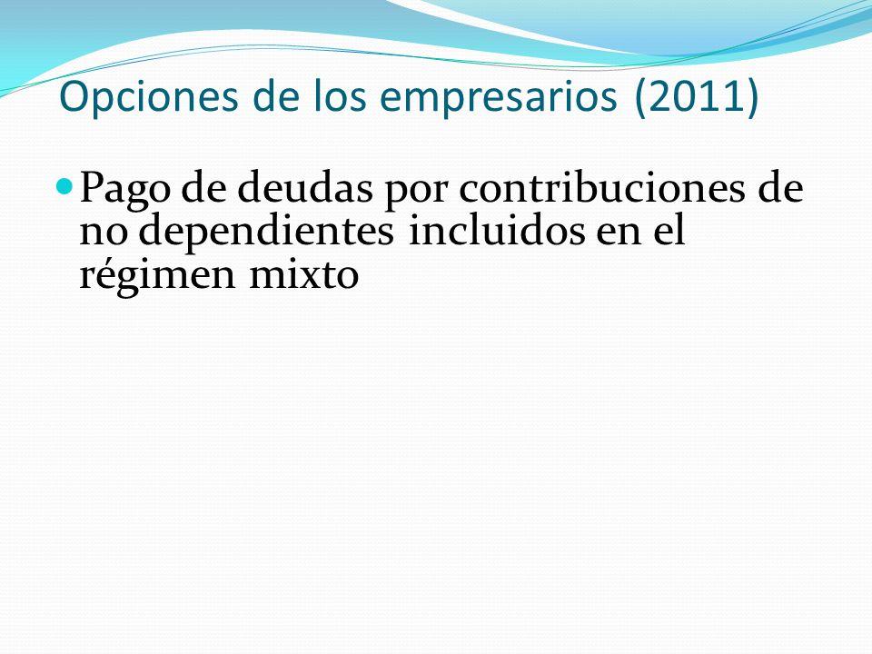 Opciones de los empresarios (2011)