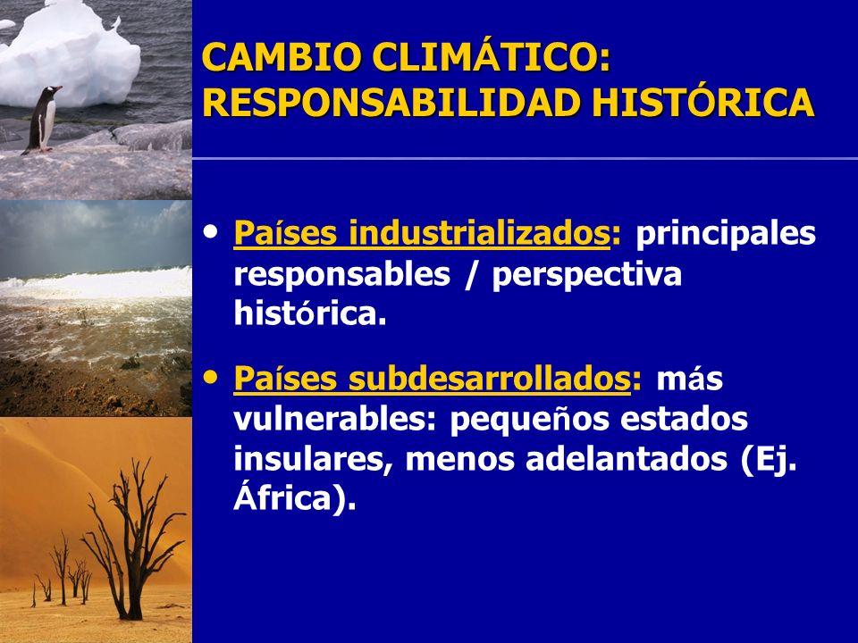 CAMBIO CLIMÁTICO: RESPONSABILIDAD HISTÓRICA
