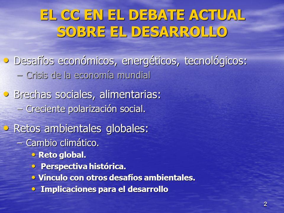 EL CC EN EL DEBATE ACTUAL SOBRE EL DESARROLLO
