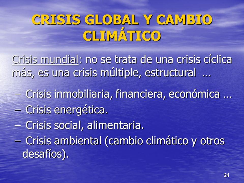 CRISIS GLOBAL Y CAMBIO CLIMÁTICO