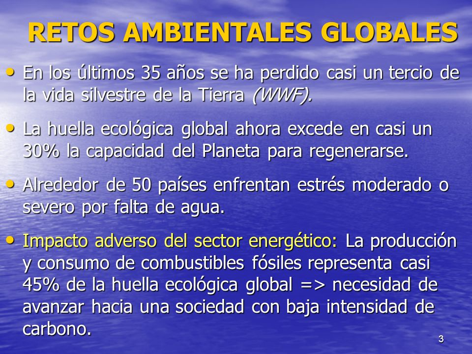 RETOS AMBIENTALES GLOBALES