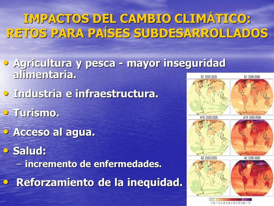 IMPACTOS DEL CAMBIO CLIMÁTICO: RETOS PARA PAÍSES SUBDESARROLLADOS