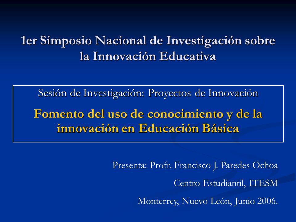 1er Simposio Nacional de Investigación sobre la Innovación Educativa