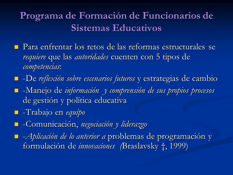 Programa de Formación de Funcionarios de Sistemas Educativos