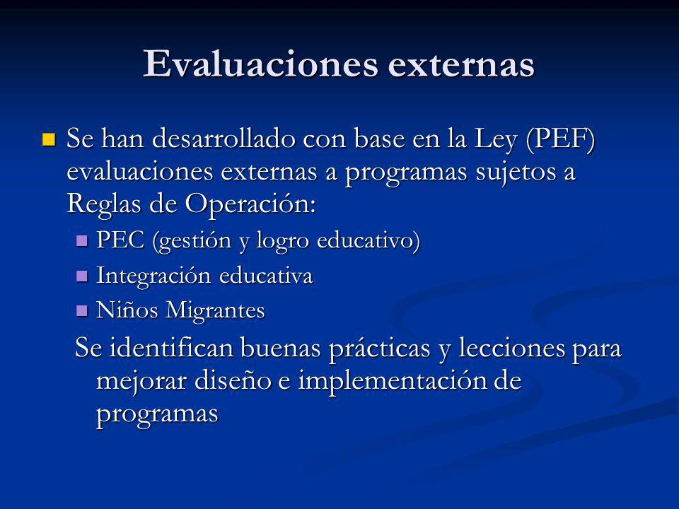 Evaluaciones externas
