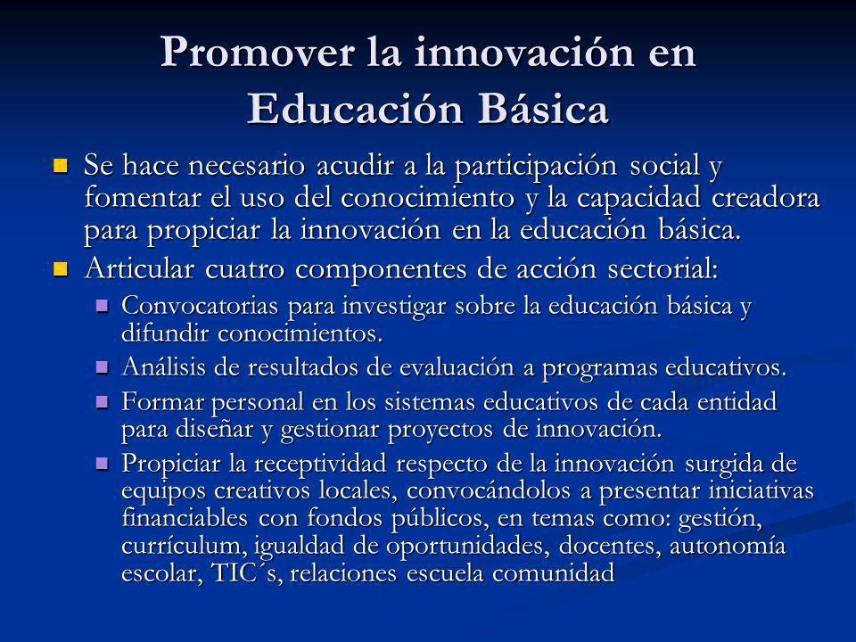 Promover la innovación en Educación Básica