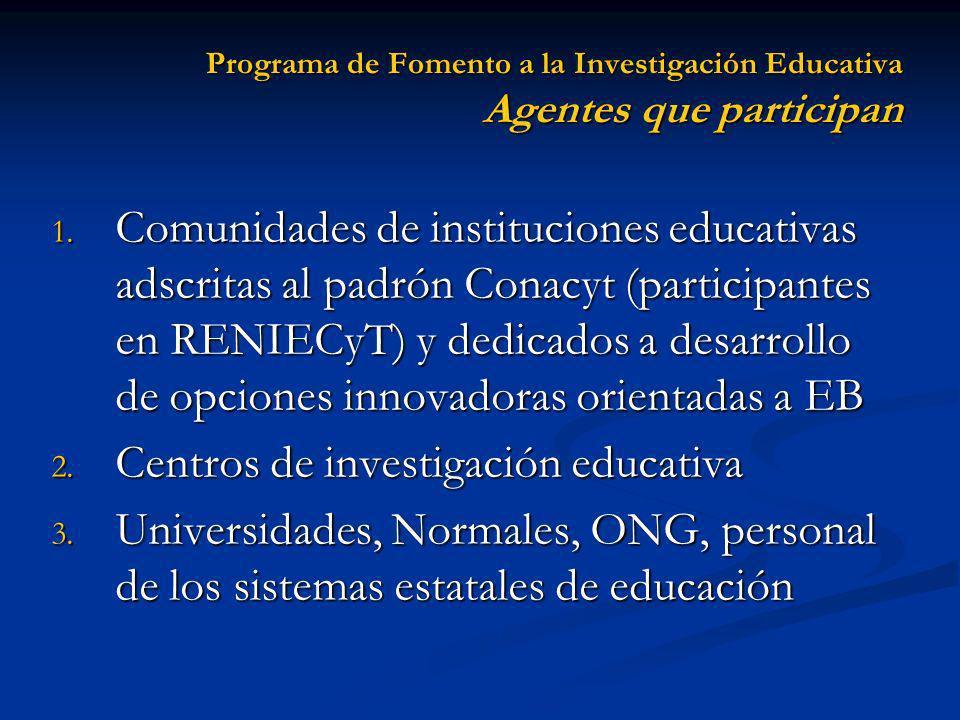 Centros de investigación educativa