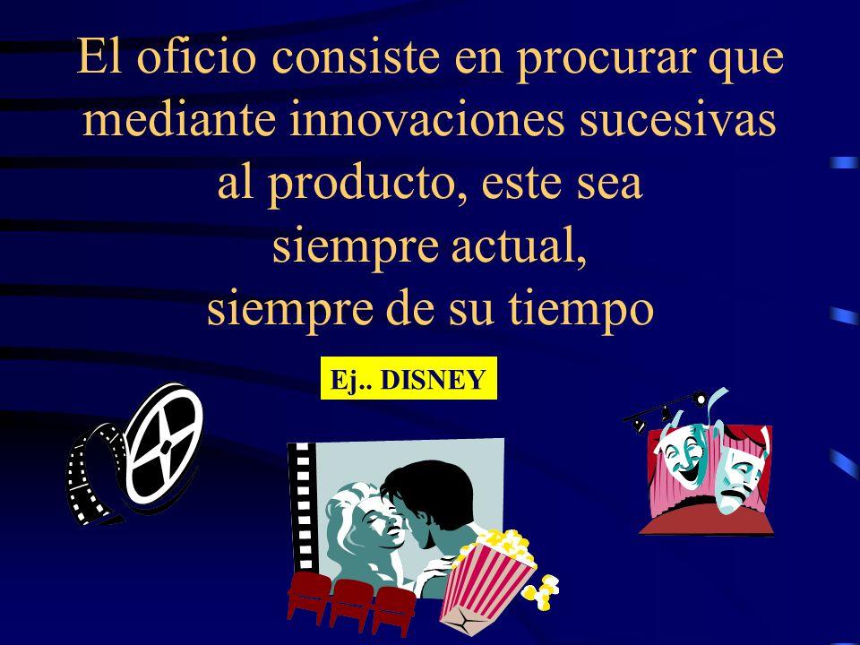 El oficio consiste en procurar que mediante innovaciones sucesivas al producto, este sea siempre actual, siempre de su tiempo