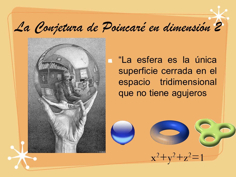 La Conjetura de Poincaré en dimensión 2