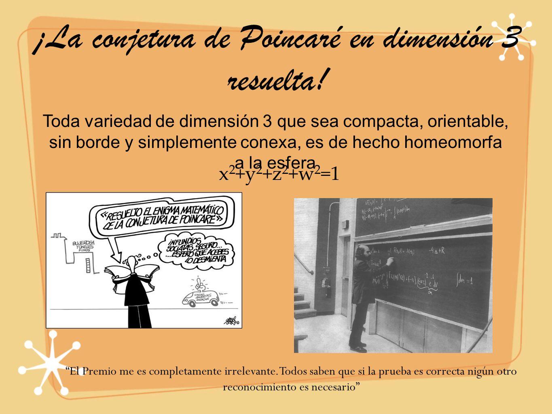 ¡La conjetura de Poincaré en dimensión 3 resuelta!