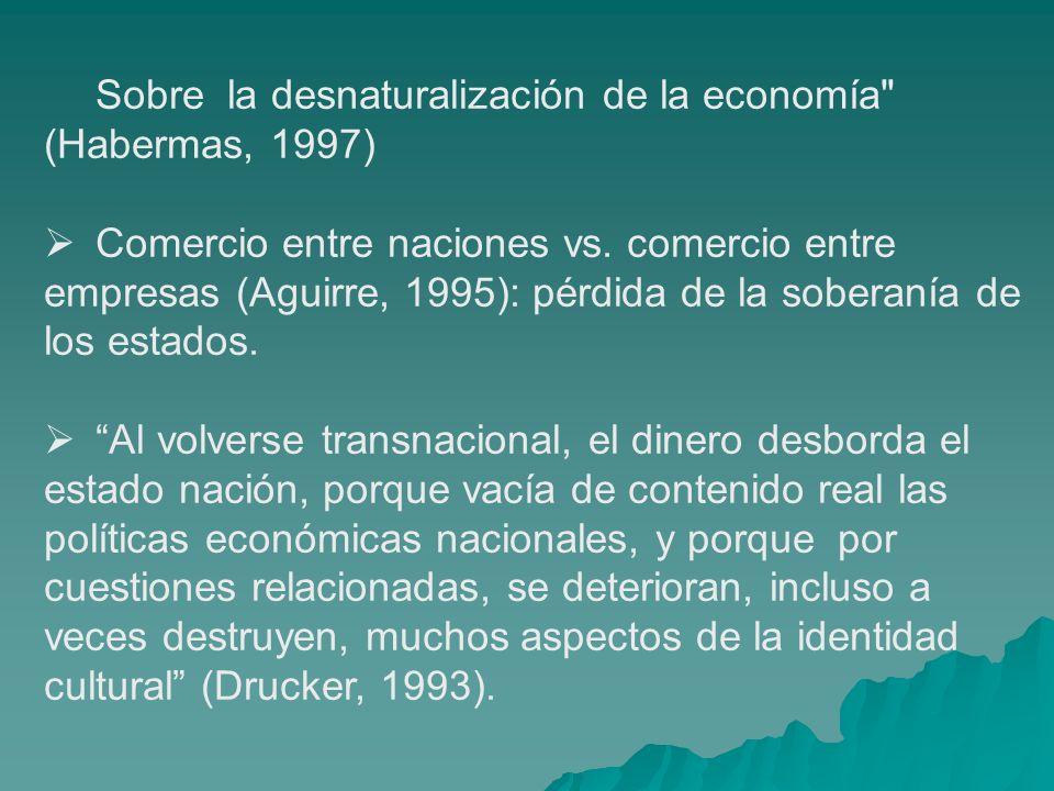 Sobre la desnaturalización de la economía (Habermas, 1997)