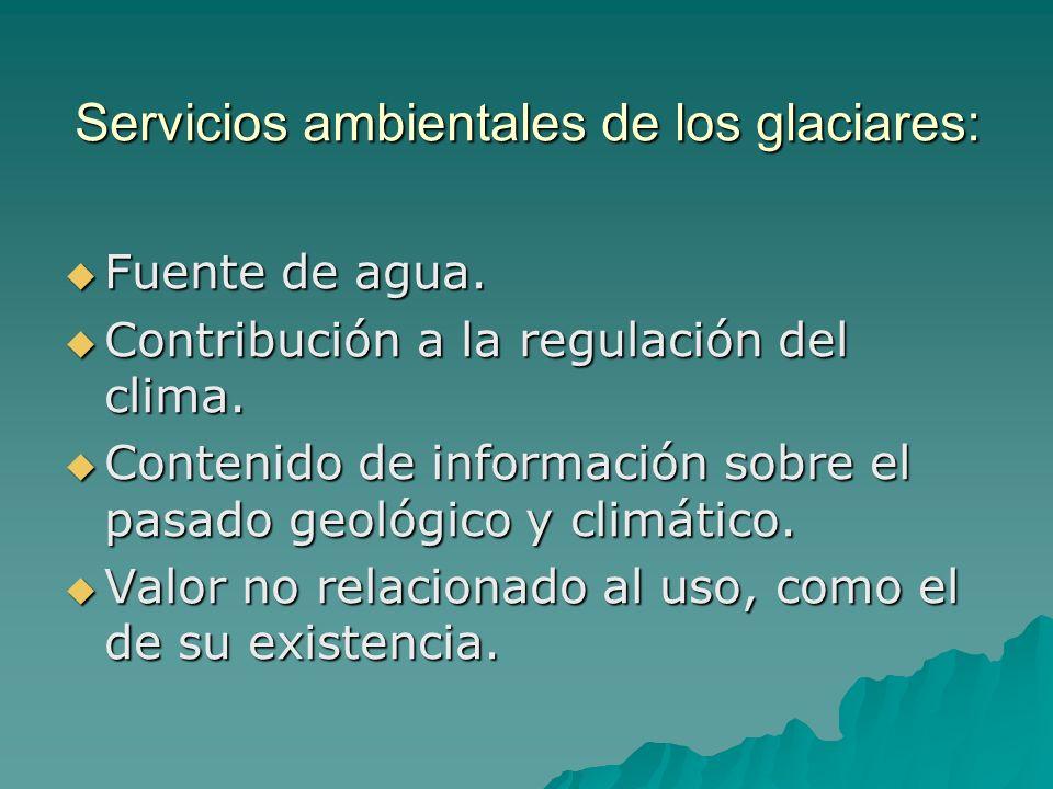 Servicios ambientales de los glaciares: