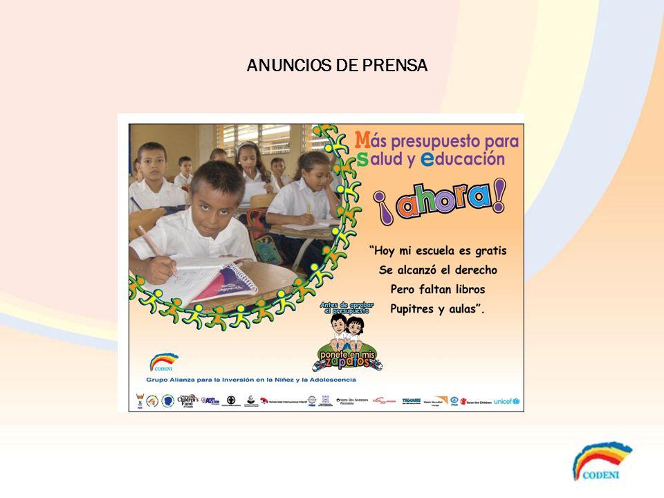 ANUNCIOS DE PRENSA