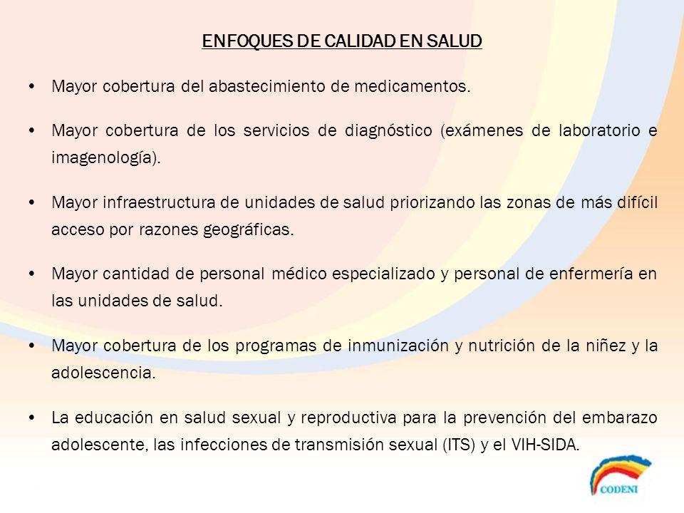 ENFOQUES DE CALIDAD EN SALUD