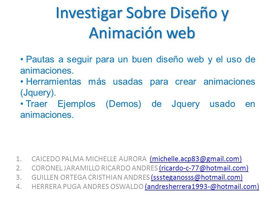 Investigar Sobre Diseño y Animación web