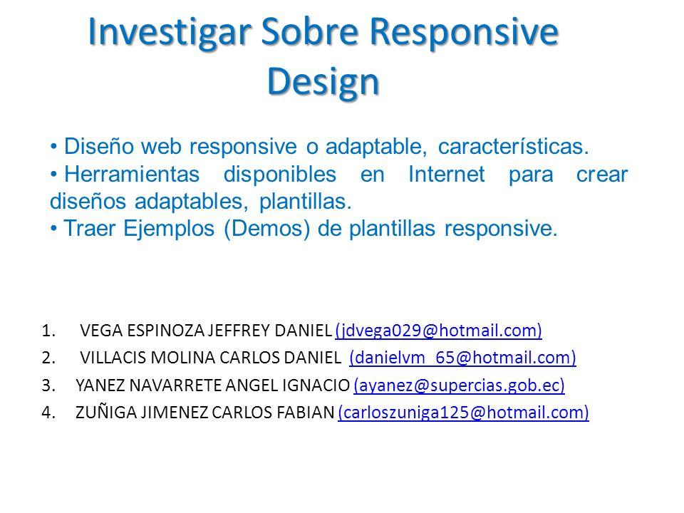 Investigar Sobre Responsive Design