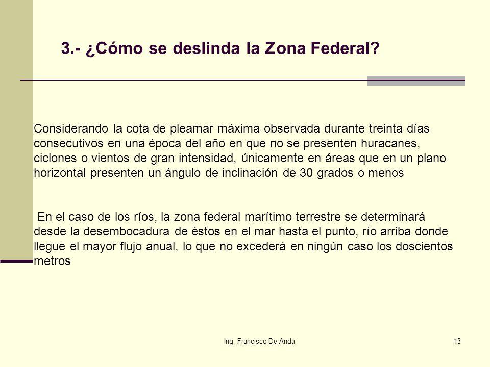 3.- ¿Cómo se deslinda la Zona Federal