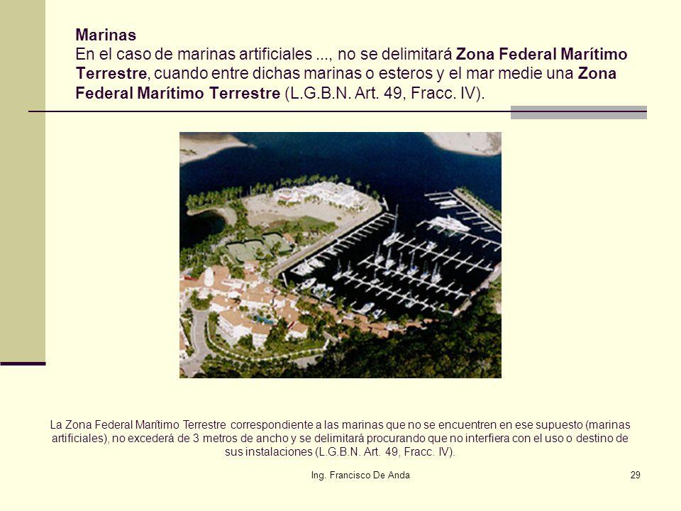 Marinas En el caso de marinas artificiales