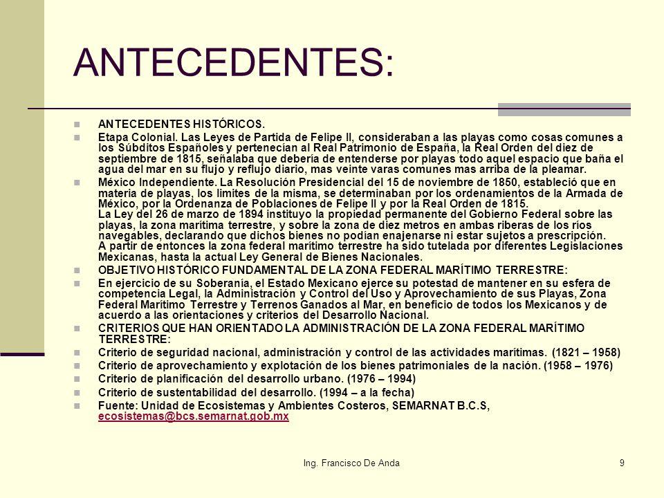 ANTECEDENTES: ANTECEDENTES HISTÓRICOS.