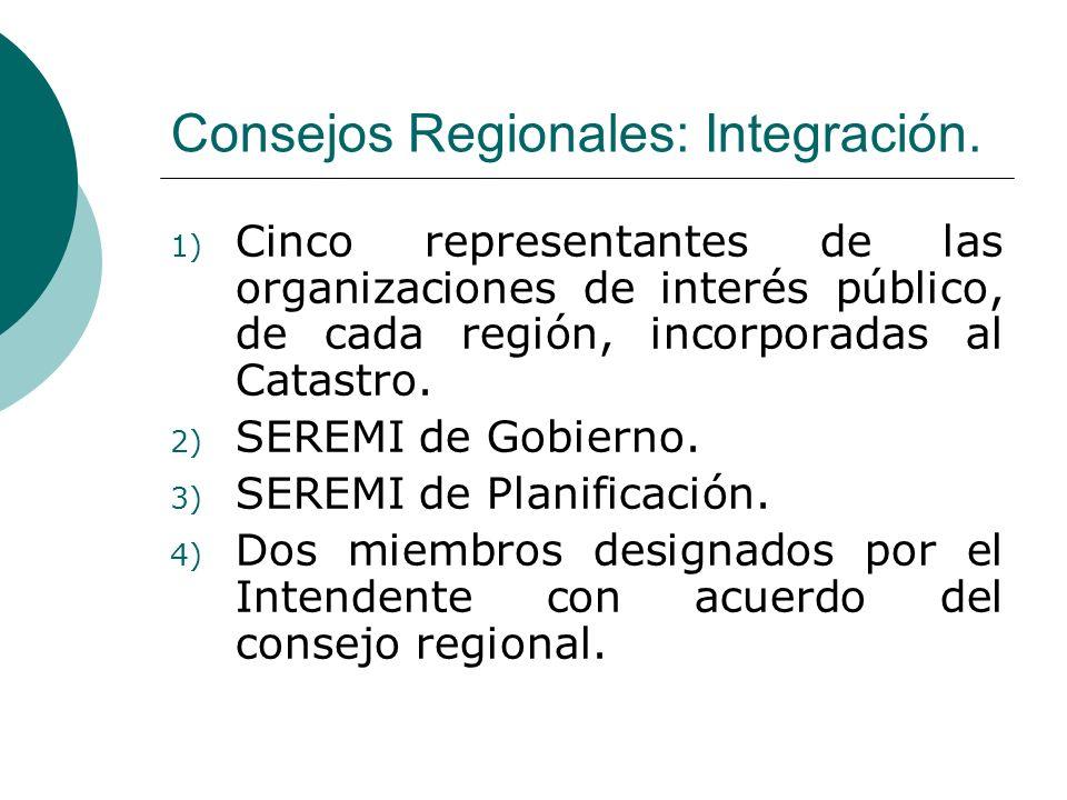 Consejos Regionales: Integración.