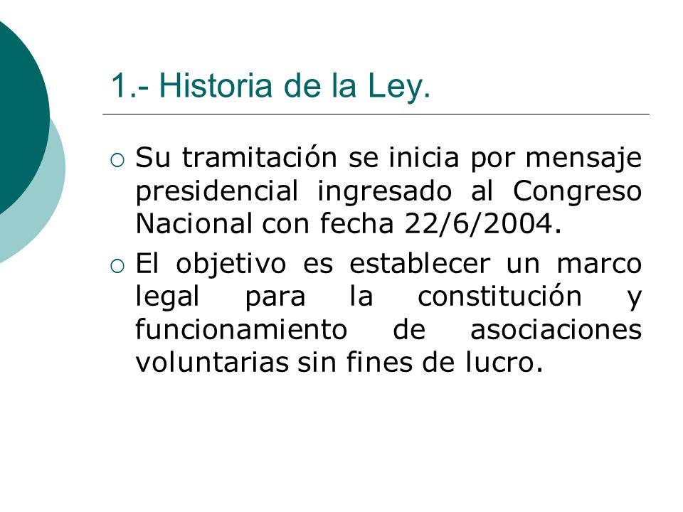 1.- Historia de la Ley. Su tramitación se inicia por mensaje presidencial ingresado al Congreso Nacional con fecha 22/6/2004.