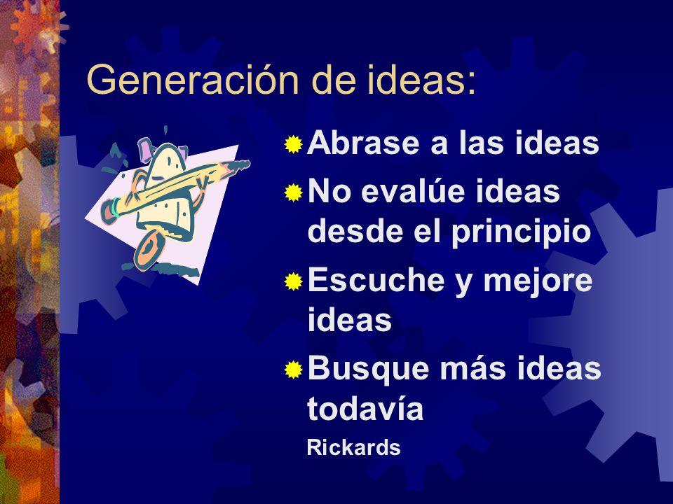 Generación de ideas: Abrase a las ideas