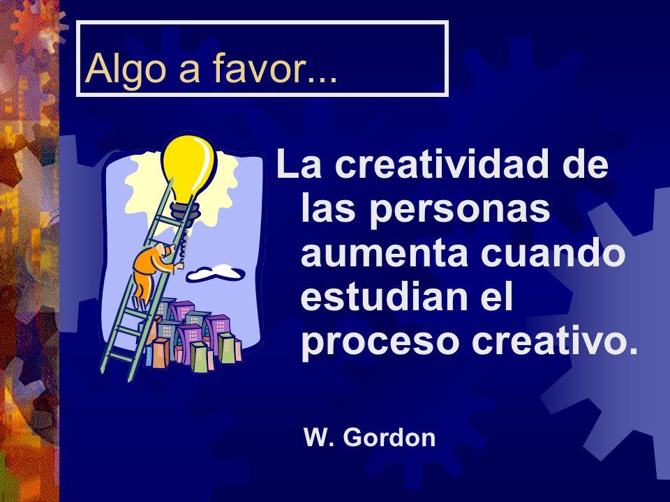 Algo a favor... La creatividad de las personas aumenta cuando estudian el proceso creativo.