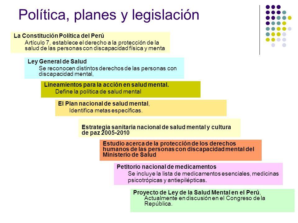 Política, planes y legislación