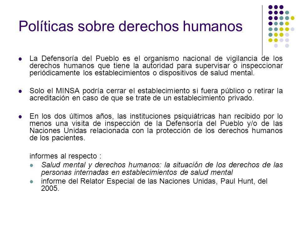 Políticas sobre derechos humanos