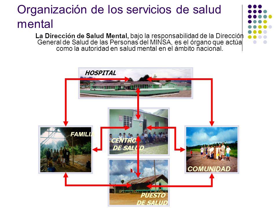 Organización de los servicios de salud mental